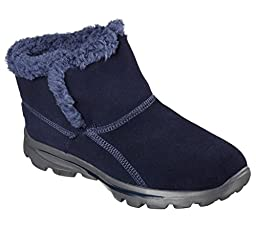 Skechers Go Walk Move Chugga Imprint Womens Ankle Boots Navy 9