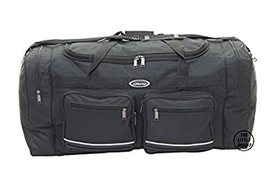 ARIANA High Quality Lightweight Holdall Duffle Cargo Travel Cabin Gym Bag Black by Rocklands London