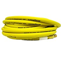 Continental 3/8-Inch x 50-Feet Safety Rubber Air Hose 1/4-Inch Fitting, Yellow - Made in USA