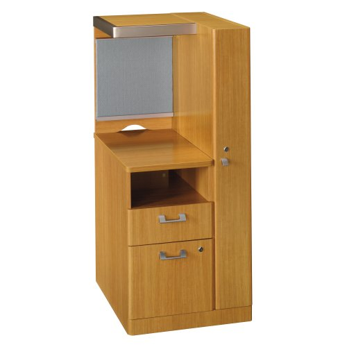 Bush Furniture Quantum Right Storage Tower, Modern Cherry