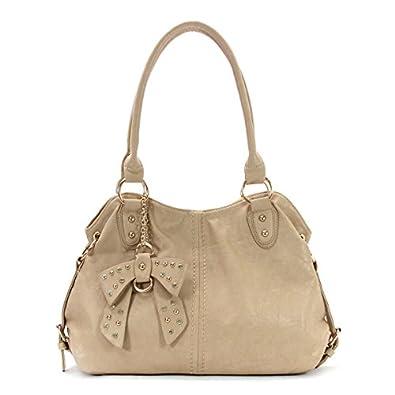 Royal Lizzy Couture Deux Cotes Shoulder Tote - BEIGE: Handbags: Amazon