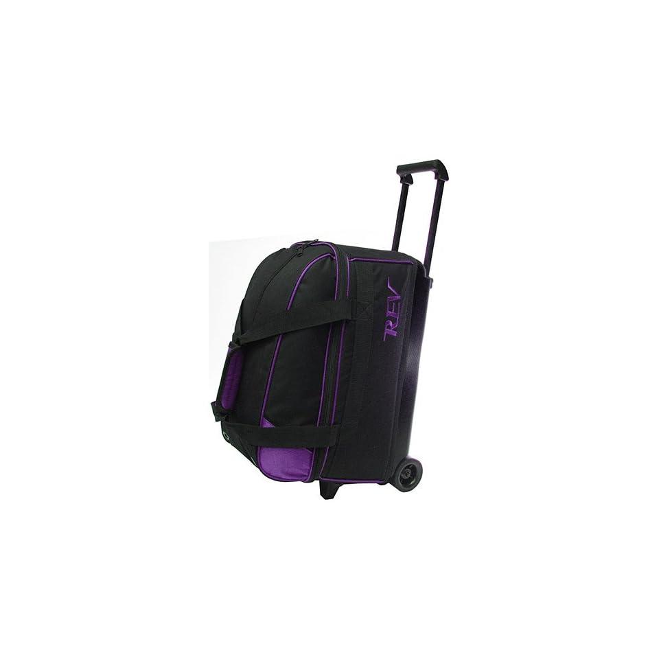 Rev Double Roller Purple/Black Bowling Bag