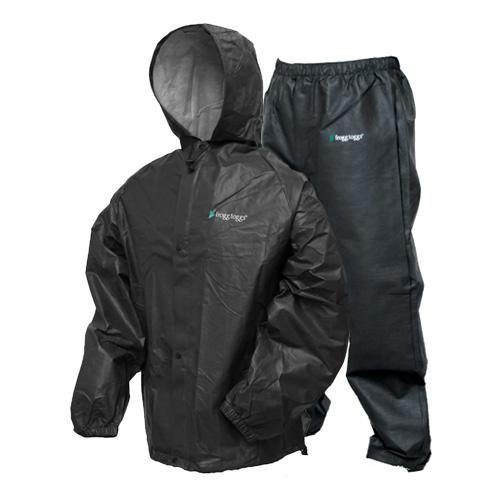 Frogg Toggs Pro Lite Rain Suit, Medium/Large, Carbon Black (Gore Tex Rain Suit compare prices)