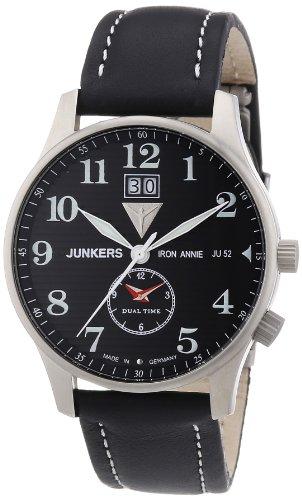 Junkers 66402 - Orologio da polso uomo, pelle, colore: nero