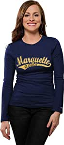 Marquette Golden Eagles Women's Distressed Tail Sweep Long Sleeve Tee