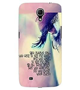 ColourCraft Quote with Image Design Back Case Cover for SAMSUNG GALAXY MEGA 6.3 I9200