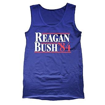 Ronald Reagan Bush '84 Cool Retro Tank Top-royal-small