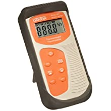 "Oakton WD-35627-00 Acorn Temp TC Thermocouple Thermometer, -250 to 1372°C, 5.5"" L x 2.7"" W x 1.3"" H"