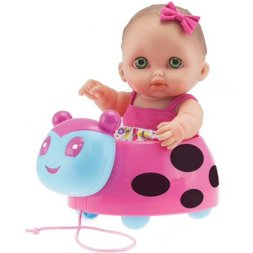 Jc Toys Lil' Cutesies Ladybug Doll With Pull Along