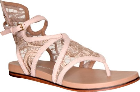 lisa for Donald J Pliner Women's Gissa-08LA Sandals,Nude Nappa/Lace,8 M US