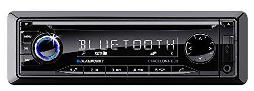 Blaupunkt-Barcelona-230-Kfz-Radio-mit-Mikrofon-v20-Bluetooth-FM-Tuner-SD-Kartenslot-4x-50-Watt-35-mm-Klinke-USB-schwarz