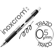 ROTULADOR ROLLER INOXCROM GEL RECTRACTIL CAMPUS NEGRO 0,5 MM (12 unid.)