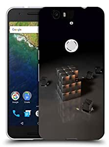 Snoogg Grey Cube Designer Protective Back Case Cover For Huawei Nexus 6P