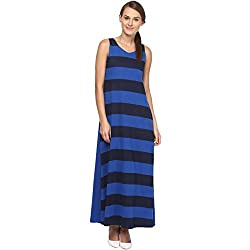 Annapoliss Women's Maxi Dress (ANWDR12_Multi Color_Large)
