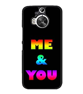 Colourful Me & You 2D Hard Polycarbonate Designer Back Case Cover for HTC One M9 Plus :: HTC One M9+ :: HTC One M9+ Supreme Camera