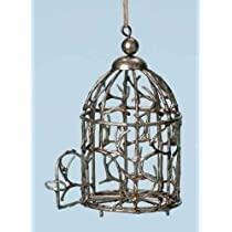 Pack of 6 Yuletide Ornate Rustic Distressed Bird Cage Christmas Ornaments 6