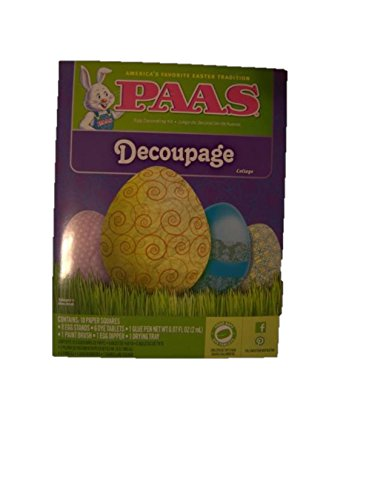 Paas Decoupage Easter Egg Decorating Dye Kit