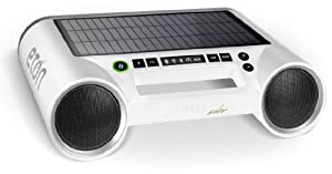 Eton Rukus Portable Bluetooth Solar Powered Wireless Speaker System (White) - (NRKS100W)