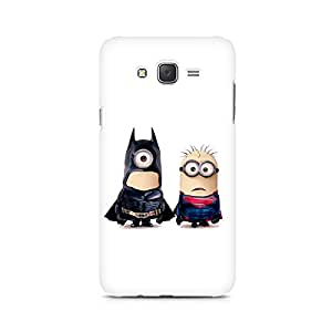 Ebby Batman vs Superman Minions Premium Printed Case For Samsung J1