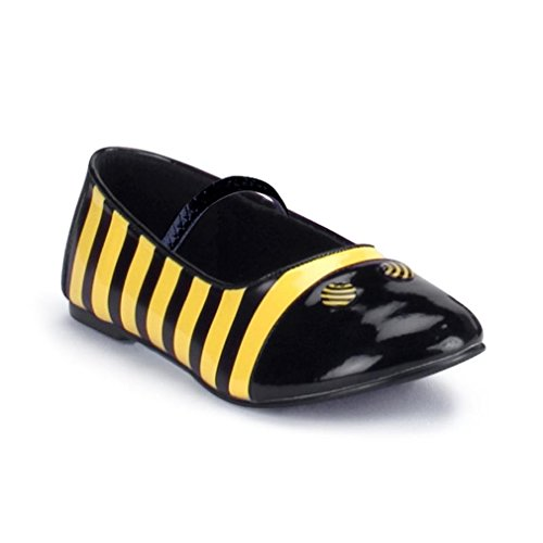 Bumble Bee Flat Shoe (Black/Yellow) Child Accessory Size Large