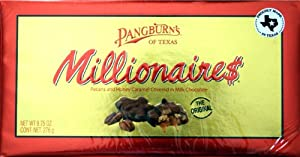Millionaires Pecans and Honey Caramel Covered in Milk Chocolate Box NET WT 9.75 OZ (276 g)