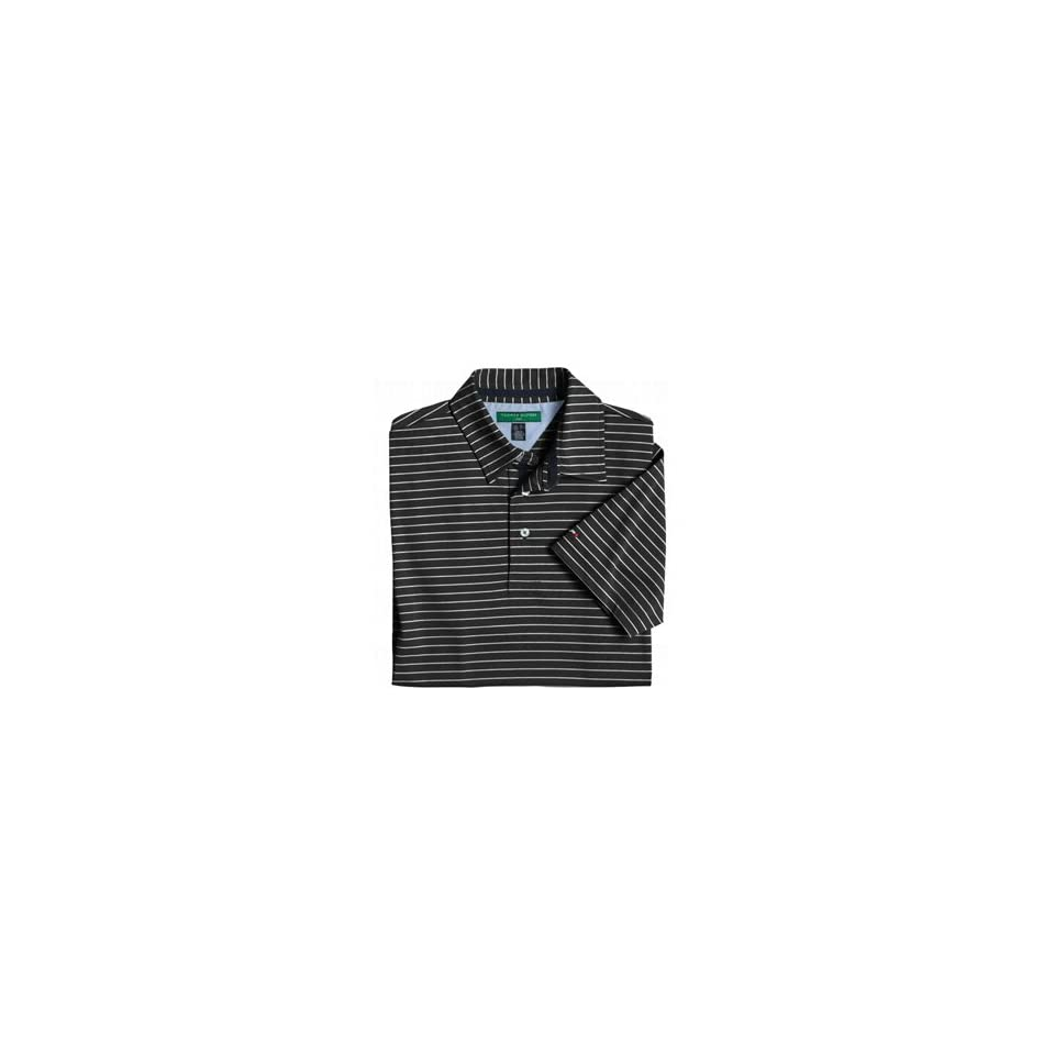 Tommy Hilfiger Mens Luther Polo Tee, Black, Large