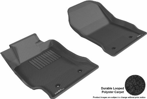 3D Maxpider Front Row Custom Fit Floor Mat For Select Scion Fr-S Models - Classic Carpet (Black)