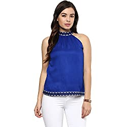 STYLEBAY Women Blue Rayon Top (CST025, X-Small)