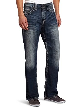 Silver Jeans Men's Grayson Relaxed Fit Jean, Medium Blue, 32x32