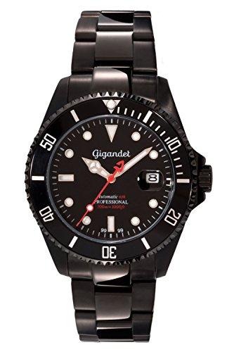 Gigandet Reloj de Hombre Automático Sea Ground Limited Edition Reloj de Buceo Analógico Correa de Acero Negro G2-006