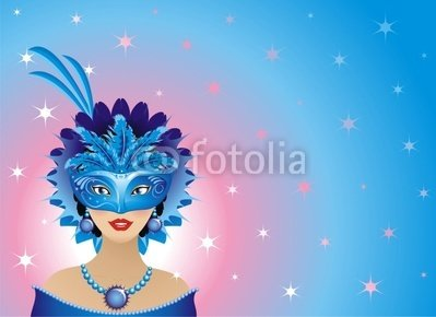 Donna in Maschera-mask Girl-fille Masquée-vector - 42