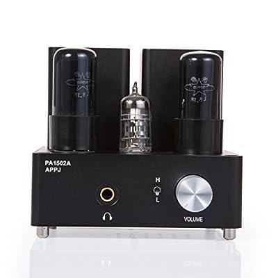 APPJ PA1502A 6N4+6P6PX2 tube headphone amplifier black