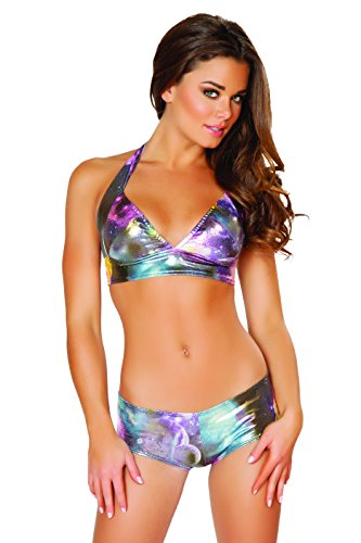 J. Valentine Women's Galaxy Halter Top and Short Set