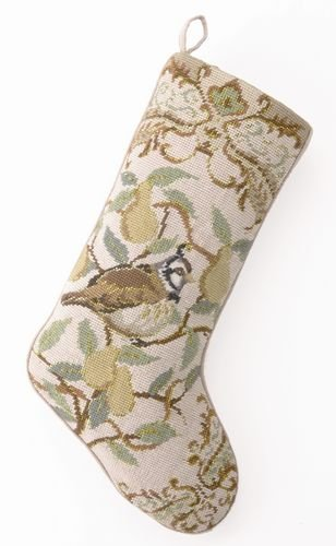 Partridge in a Pear Tree Christmas Stocking