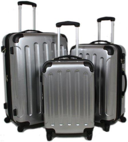 BEIBYE SILBER 3 tlg. Reisekofferset (XL/L/Boardcase)