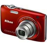 Nikon Coolpix S3100 Digitalkamera (14 Megapixel, 5-fach opt. Zoom, 6,7 cm (2,7 Zoll) Display, HD Video, bildstabilisiert) rot