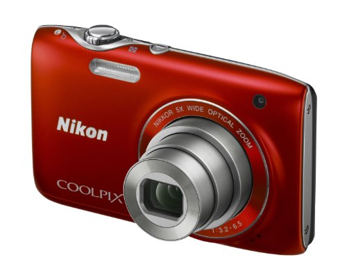 Nikon Coolpix S3100 Digital Camera - Red (14MP,