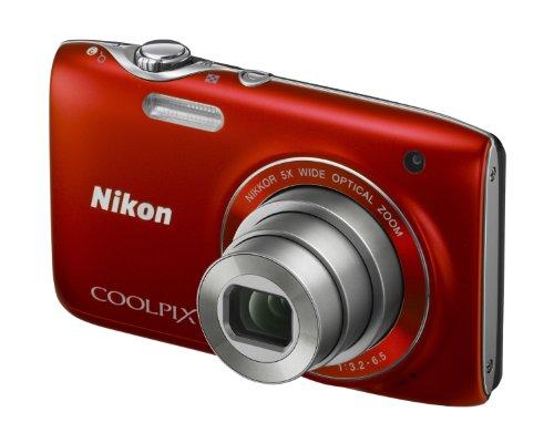 Nikon Coolpix S3100 Digital Camera - Red (14MP,