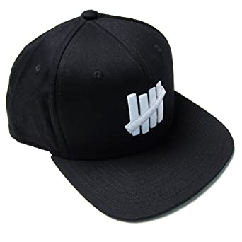 Undefeated: 5 Strick Snapback Hat - Black
