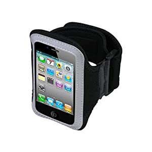 Apple iPhone i-Phone 4 4G 4-G HD Black Vertical Pouch Carrying Case Protector Sport Cell Phone Arm Band