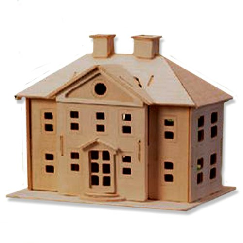 Cheap All4LessShop 3-D Wooden Puzzle – Country Mansion -Affordable Gift for your Little One! Item #DCHI-WPZ-P071 (B004QDYDZ0)