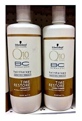 Schwarzkopf BC Time Restore Shampoo and Conditioner Liter Duo, 67.6 Ounce