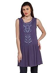 Oxolloxo Women Purple Tunic