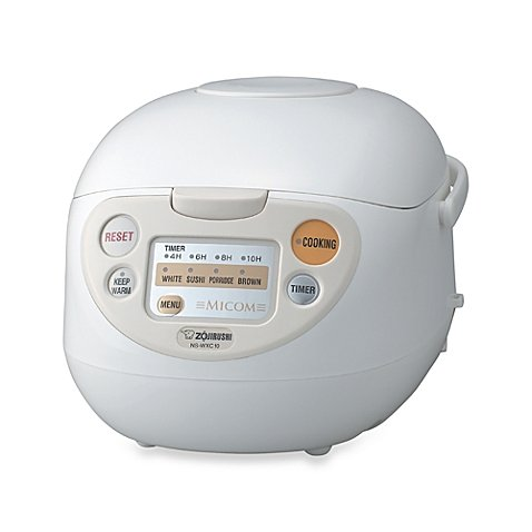 Zojirushi 5-1/2 Cup Micom Rice Warmer & Cooker in White (Induction Crab Pot compare prices)