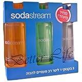 Original Sodastream Source Three Pack 1 Liter Bottles Best Plastic Lasts 2 years