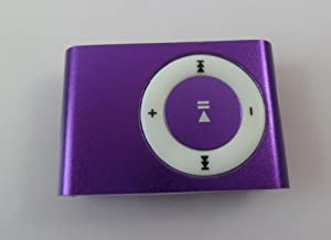 Afunta(tm) Mini Purple Metal Clip Mp3 Player Supports up to 8gb Tf Card/micro Sd Card (Card Not Included)