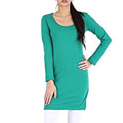Avarnas Women's Tunic (AVTU023DGNS_Ultramarine Green_32)