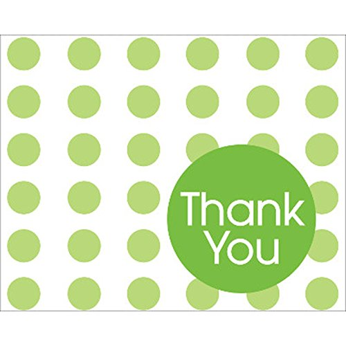 Fresh Lime Polka Dot Thank You Notes - 891077