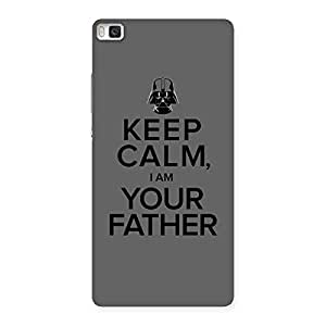 Grey Calm Father Back Case Cover for Huawei P8