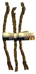 Best Buy Bones - USA Made 3-Pack Lamb Roll Weasand - Healthy Pet Chews for Dogs